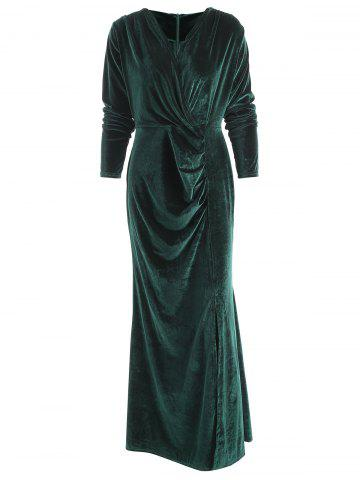 c4bc2cf7e2 Long Green Velvet Dress - Free Shipping, Discount And Cheap Sale ...