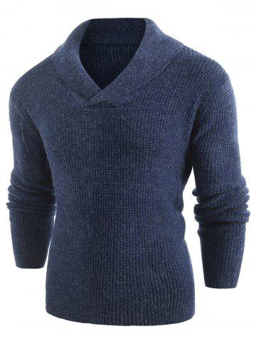 Solid Shawl Collar Pullover Sweater