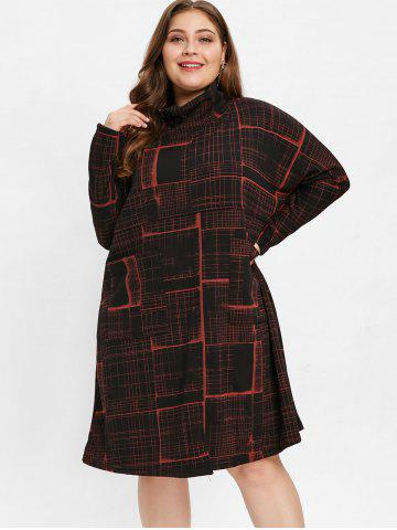 Plus Size Cowl Neck Printed Dress