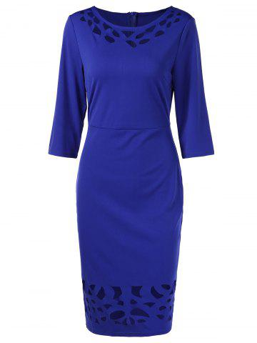Three Quarter Sleeve Sheath Dress