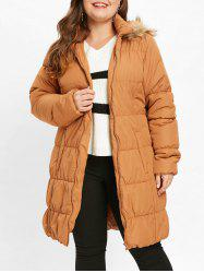 Hooded Plus Size Puffer Coat -