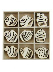 Cake Wooden Home Decorations Set -