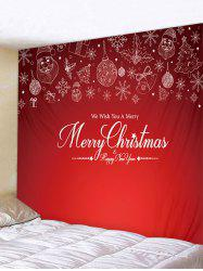 Merry Christmas Print Tapestry Art Decoration -