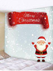 Father Christmas Snowflake Print Tapestry Art Decoration -