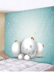 Christmas Ball Snow Print Tapestry Art Decoration -