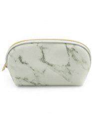 Cosmetic Marble Pattern Zipper Makeup Bag -