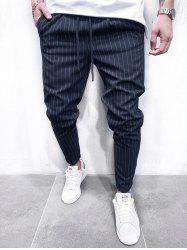 Thin Stripe Tapered Casual Pants -