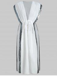 See Through Sequin Panel Cover Up -