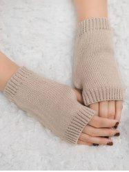Winter Fingerless Knitted Gloves -