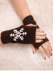 Stylish Snowflake Fingerless Gloves -