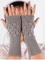 Vintage Hollow Out Knit Gloves -