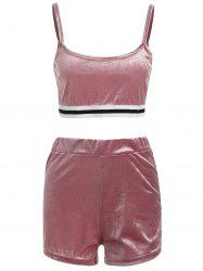Sweat Suit Striped Cami Top with Shorts -
