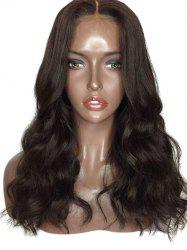 Center Parting Medium Wavy Synthetic Lace Front Wig -