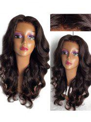 Long Center Parting Loose Body Wave Lace Front Synthetic Wig -