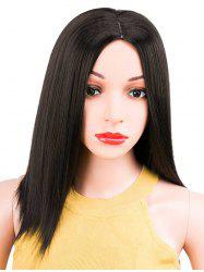 Medium Center Parting Capless Straight Synthetic Wig -