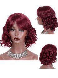 Medium Side Bang Loose Wave Party Synthetic Wig -