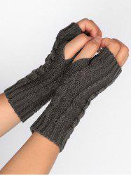 Elegant Solid Color Fingerless Gloves -