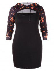 Plus Size Sheath Hoodie Dress -