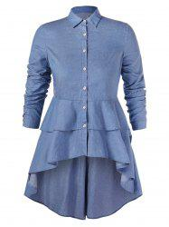 Layered Plus Size High Low Shirt -