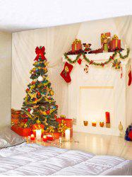Christmas Tree Stocking Print Tapestry Art Decoration -