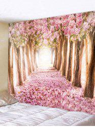 Flower Trees Avenue Print Tapestry Wall Hanging Decoration -