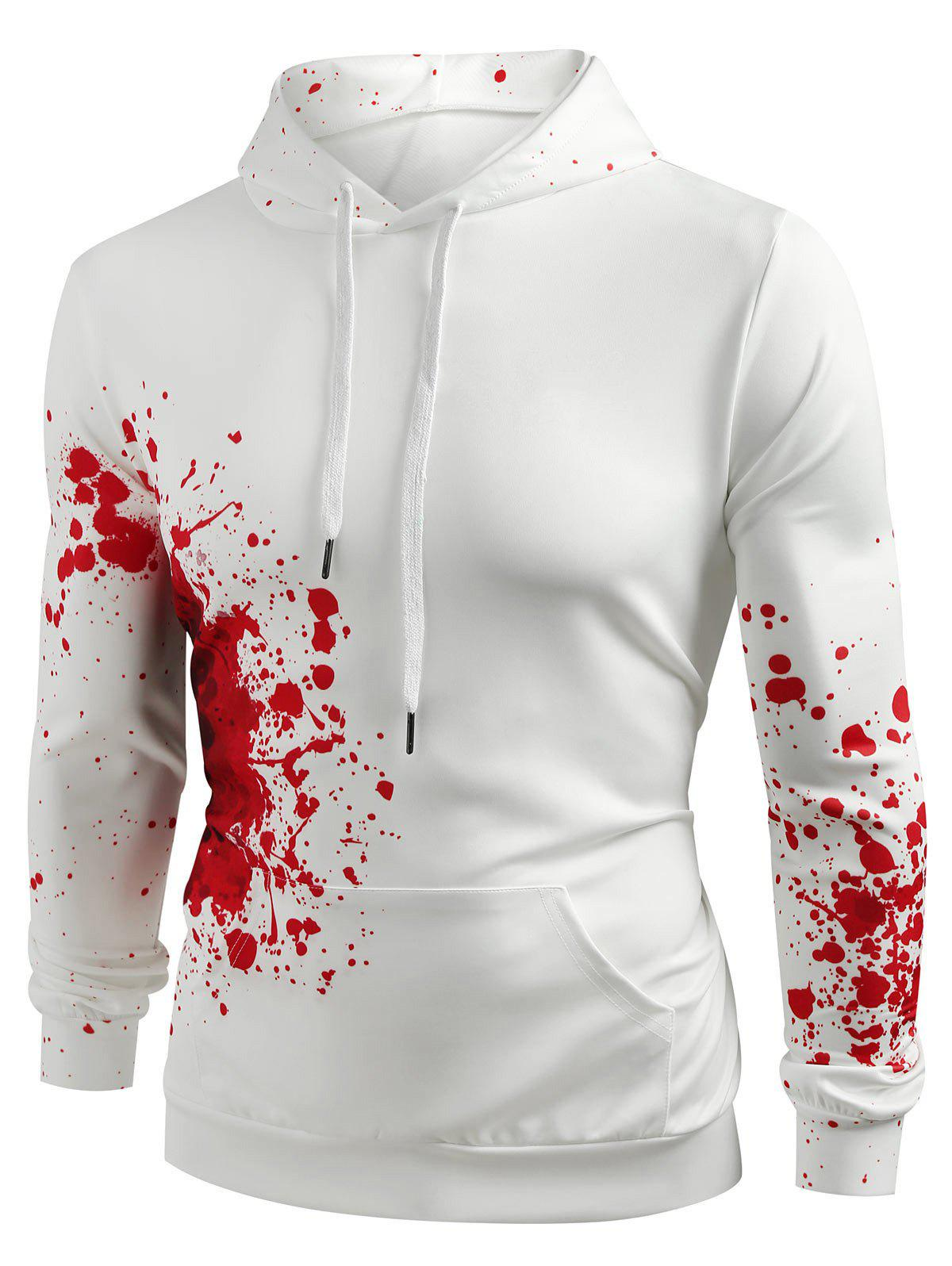 Fancy Halloween Splashing Paint Casual Hoodie