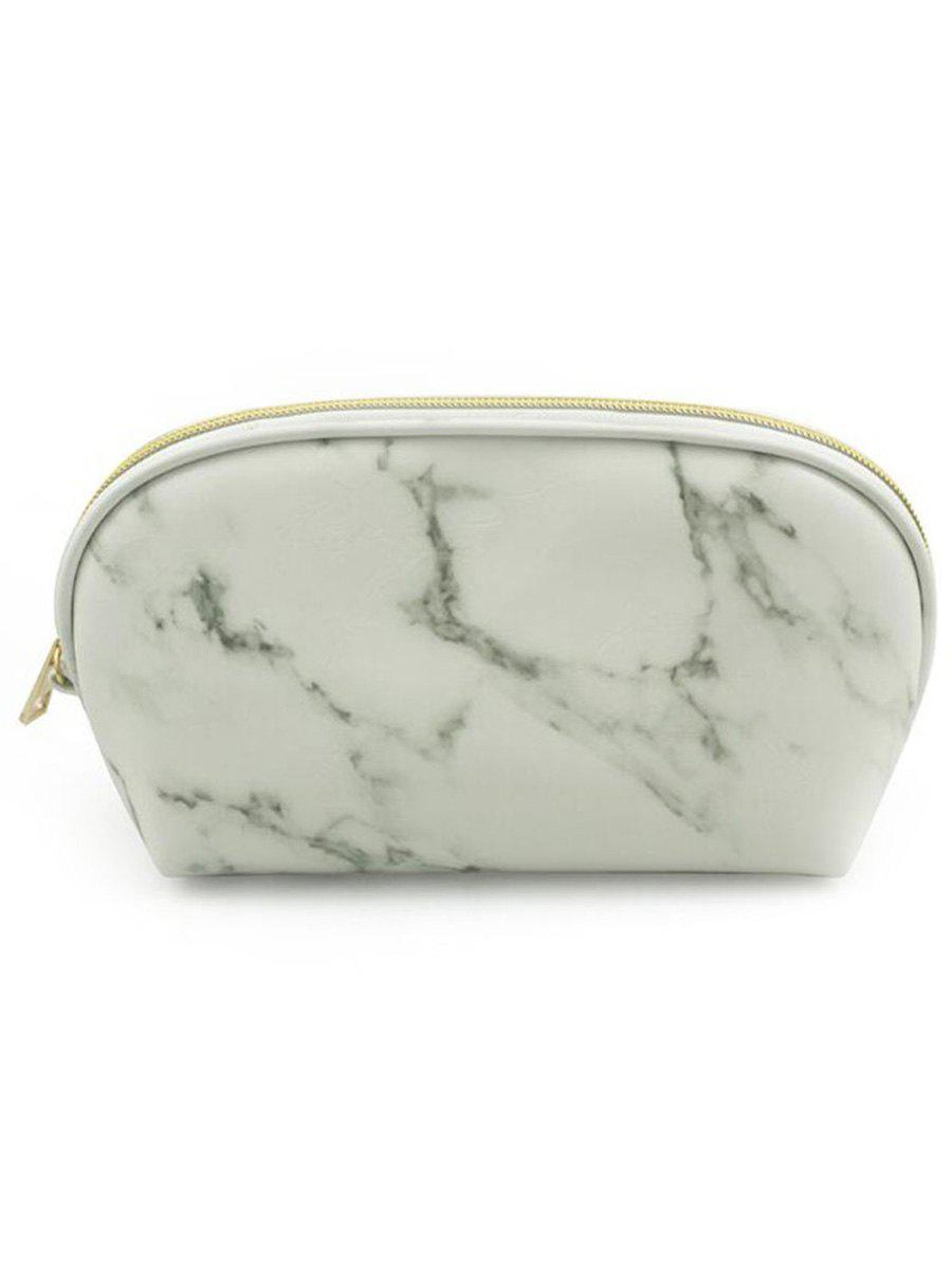 New Cosmetic Marble Pattern Zipper Makeup Bag