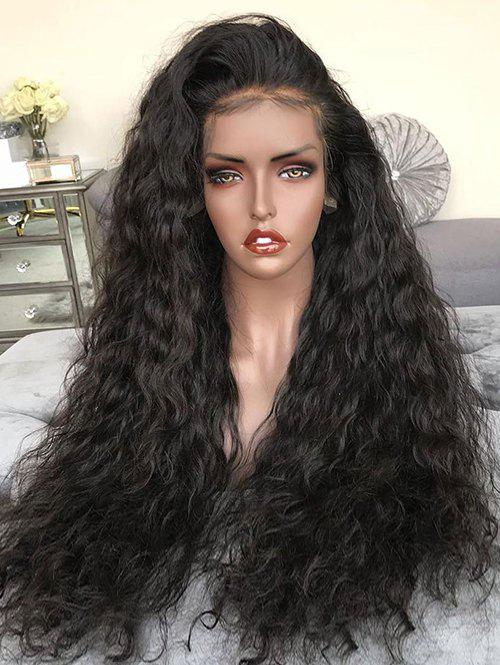 Sale Long Free Part Water Curly Synthetic Lace Front Wig