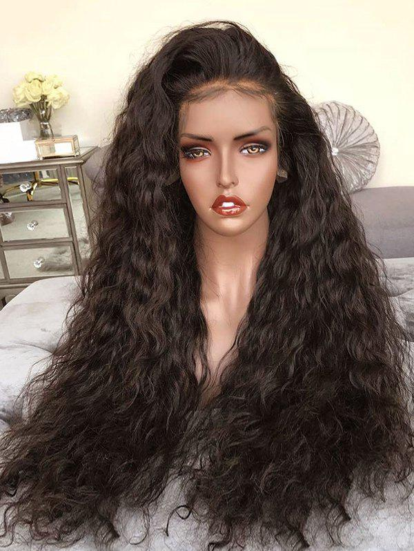 Cheap Long Free Part Water Curly Synthetic Lace Front Wig