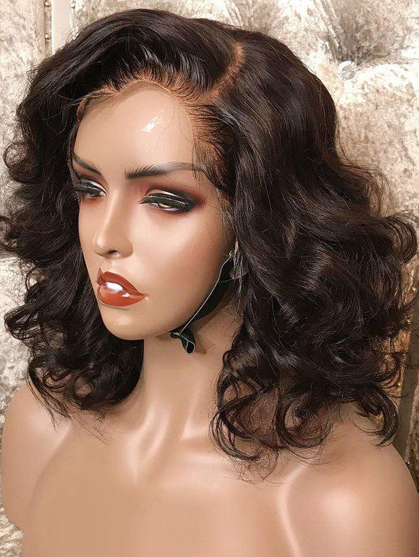 Sale Short Side Bang Loose Wave Lace Front Synthetic Wig