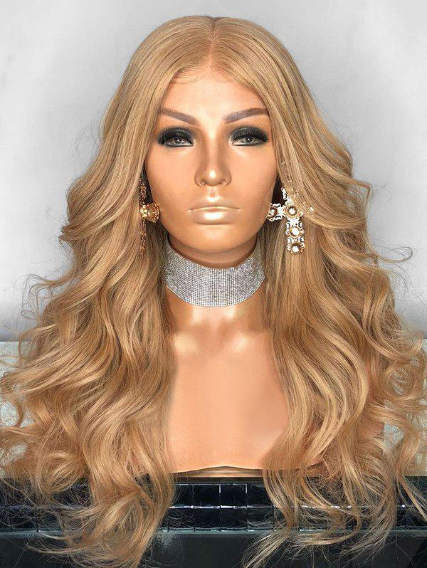 Best Long Party Center Parting Wavy Lace Front Synthetic Wig
