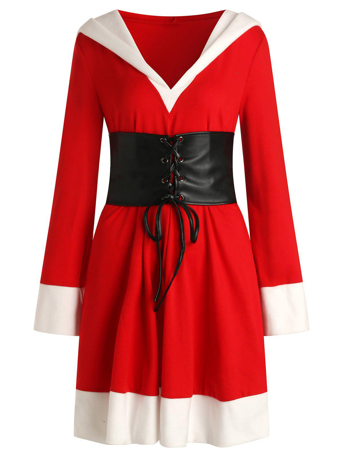 Online Christmas Santa Claus Hooded Dress