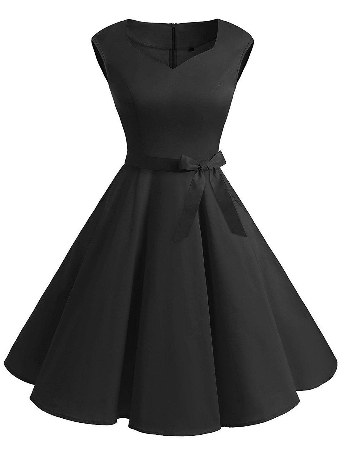 Best Vintage Sweetheart Neck Fit and Flare Dress