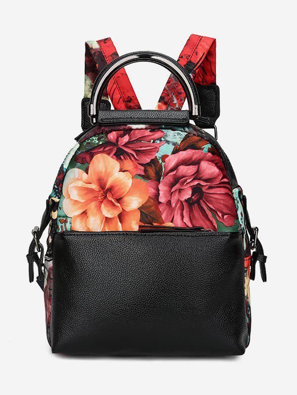 Cheap Top Handle Flower Print Backpack