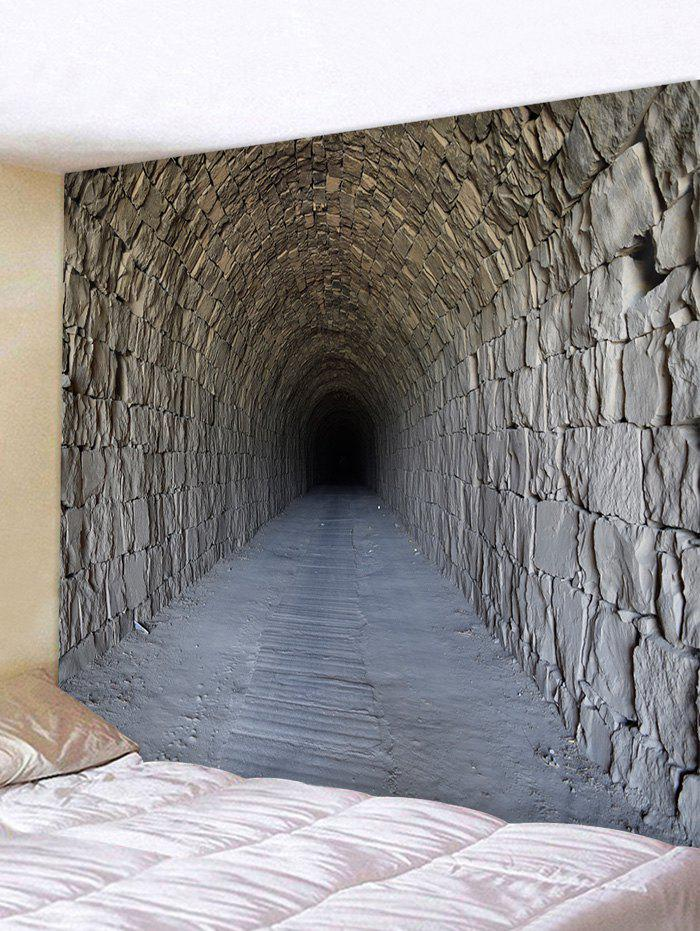 35 Off Brick Tunnel Print Tapestry Wall Hanging