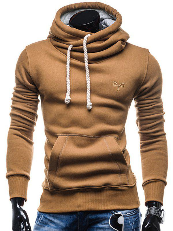 Hot Whole Colored Drawstring Casual Hoodie