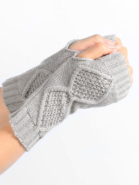 New Winter Solid Color Fingerless Gloves