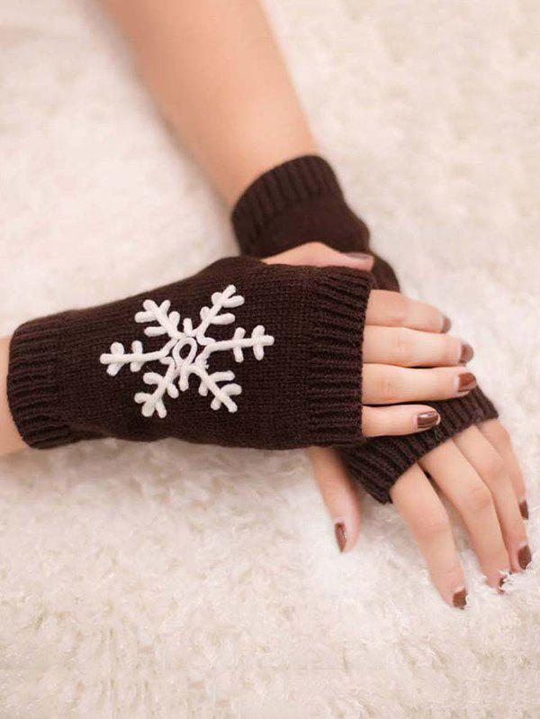 Shop Stylish Snowflake Fingerless Gloves