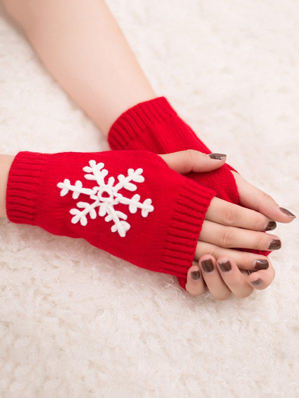 Unique Stylish Snowflake Fingerless Gloves