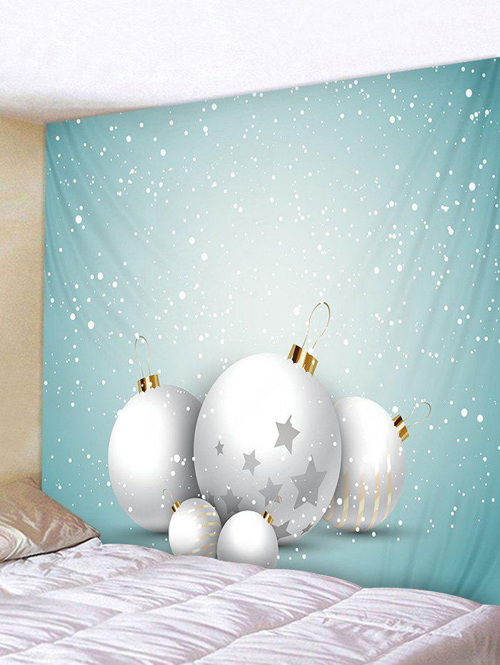 New Christmas Ball Snow Print Tapestry Art Decoration