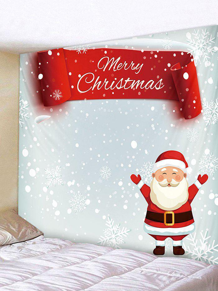 Shops Father Christmas Snowflake Print Tapestry Art Decoration