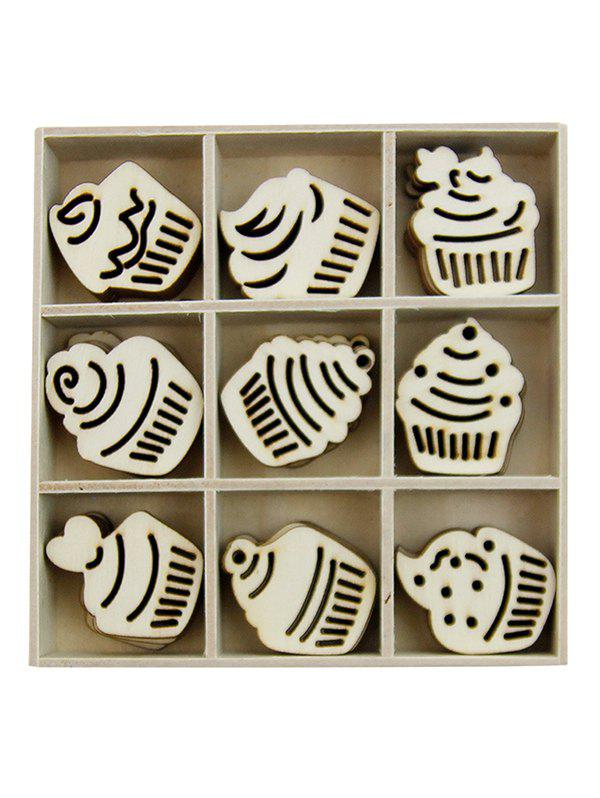 Fancy Cake Wooden Home Decorations Set