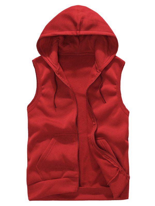 New Solid Color Casual Hooded Vest