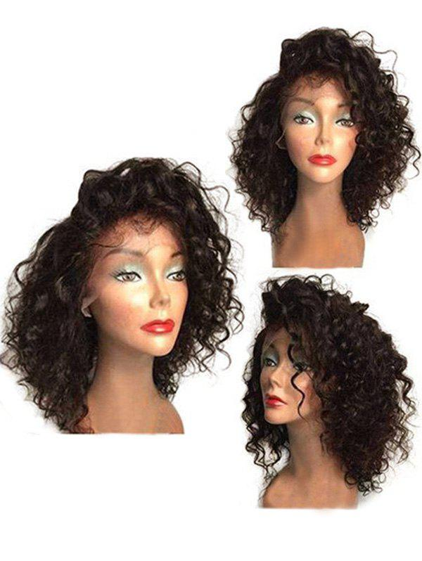 Fashion Medium Side Bang Curly Synthetic Lace Front Wig