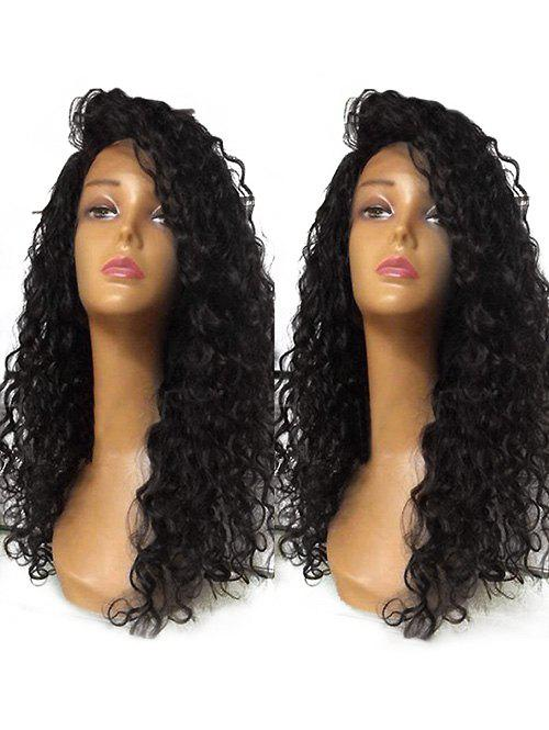 Shop Long Inclined Bang Curly Lace Front Synthetic Wig