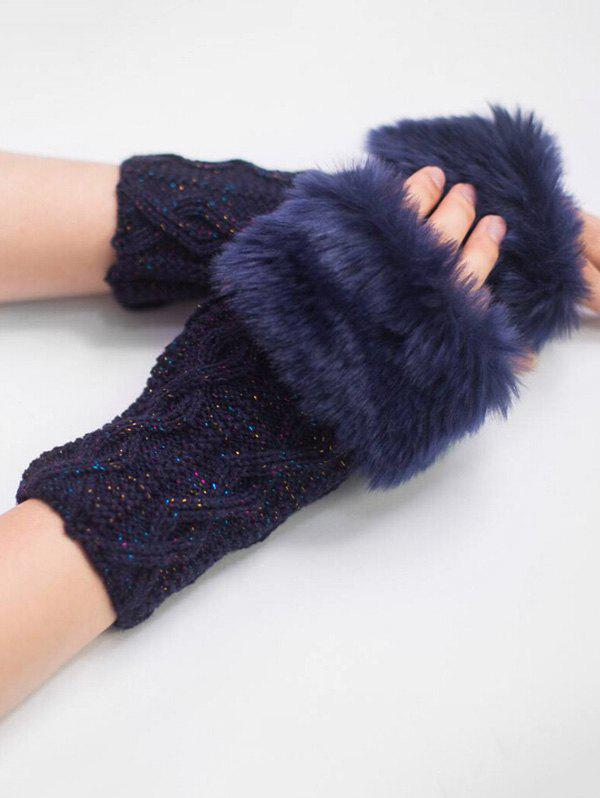Outfits Vintage Rhombus Thicken Fuzzy Gloves