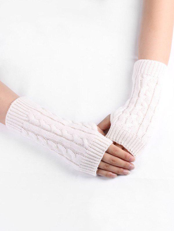 Outfits Winter Solid Color Knitted Gloves