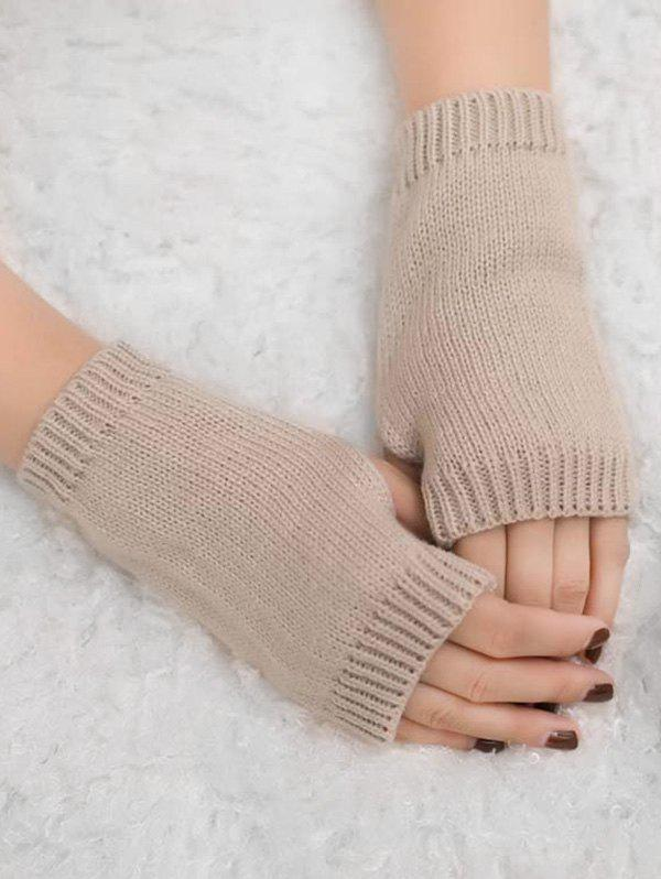 Outfit Winter Fingerless Knitted Gloves