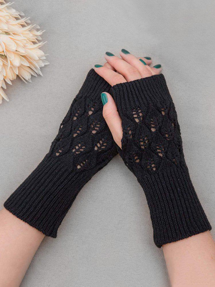 Discount Vintage Hollow Out Knit Gloves