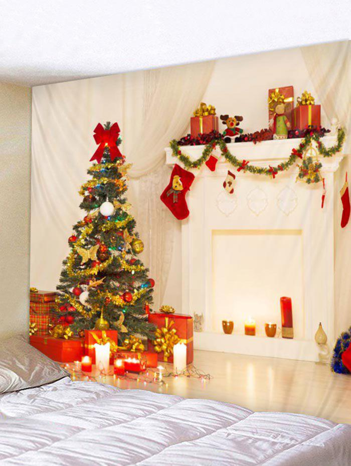 Affordable Christmas Tree Stocking Print Tapestry Art Decoration